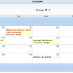 Filled Calendar