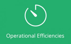 Operational Efficiencies Icon on green background