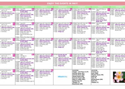 InTouchLink Assisted Living Activity Calendar Template 1