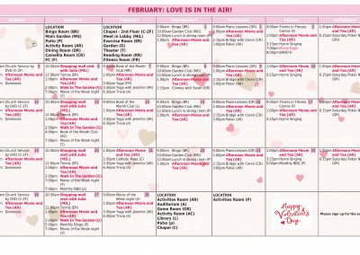 InTouchLink Assisted Living Monthly Activity Calendar Template 4