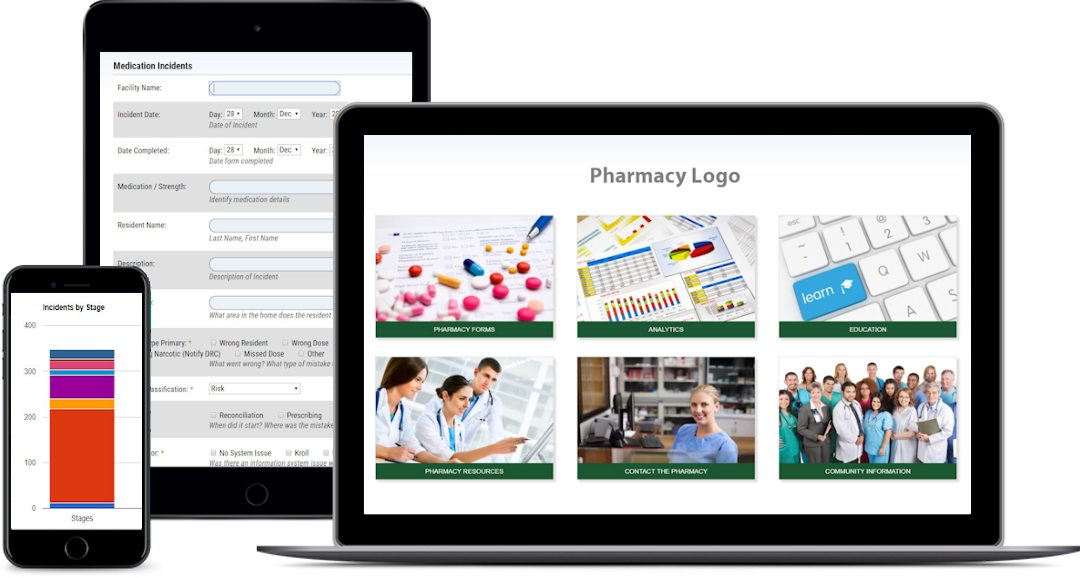 InTouchLink Pharmacy Portal Screens