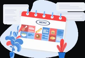 Illustration of menu tracker
