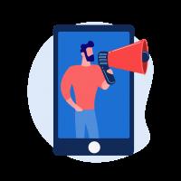 community message broadcast notification icon